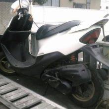 四日市市楠町 バイク無料回収 原付 ディオZX事故車の写真