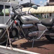 四日市市采女  バイク廃車処分 マグナ250 長期放置不動の写真
