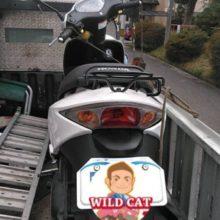 四日市市尾平 バイク廃車 原付ディオ(AF68) 不動 転倒車の写真