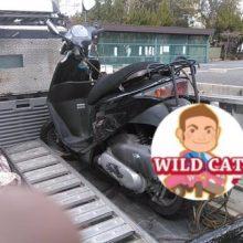 四日市市平津新町 バイク回収 原付ディオ(AF68)の写真