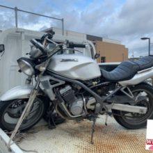いなべ市大安 事故車の廃車処分 バリオス250の写真