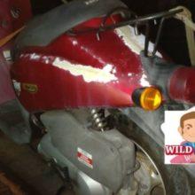 いなべ市員弁町にてバイク廃車 原付today(AF61)無料廃車の写真